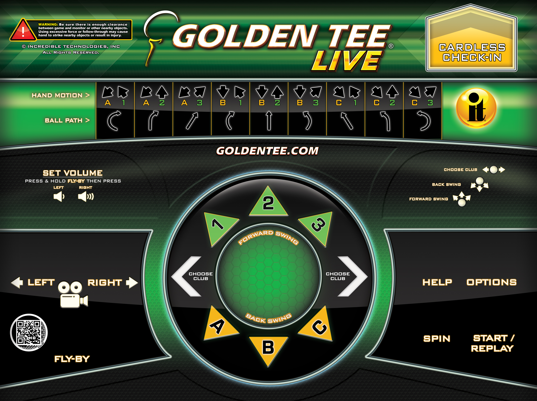 Golden Tee Cabinet Livewire