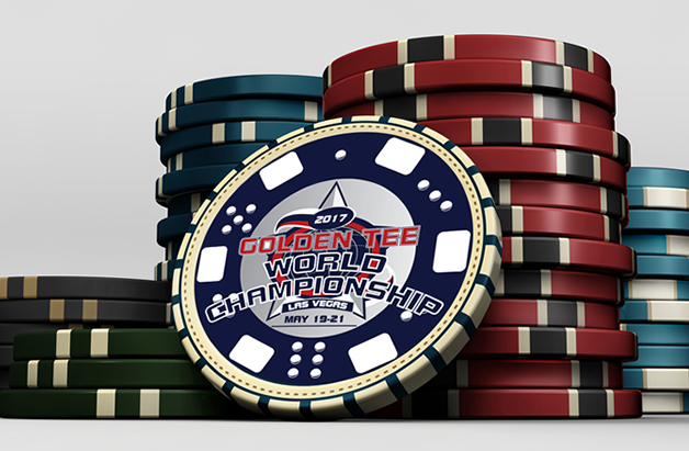 Golden Tee poker chips