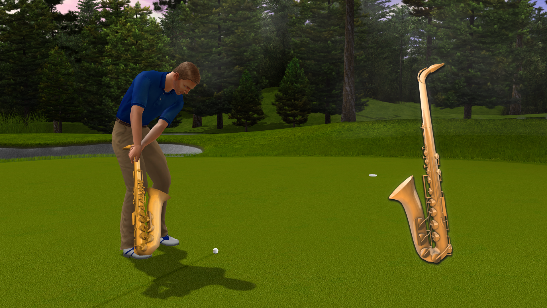 Golden Tee 2019: Saxophone putter