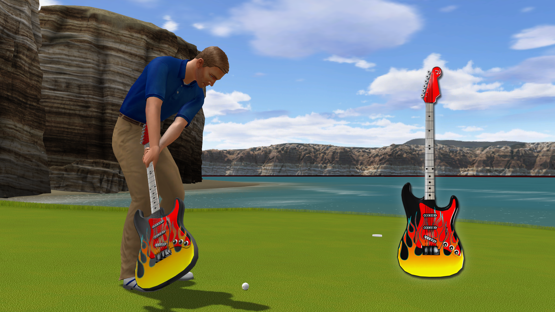 Golden Tee 2019: Custom guitar putter