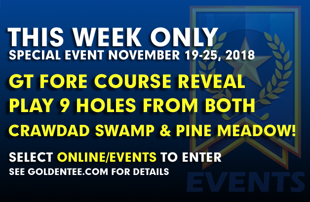 Our Fore! course Event is LIVE!