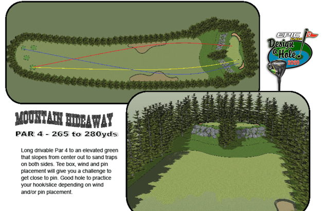 2020 Design-a-Hole 3rd Place: Mountain Hideaway