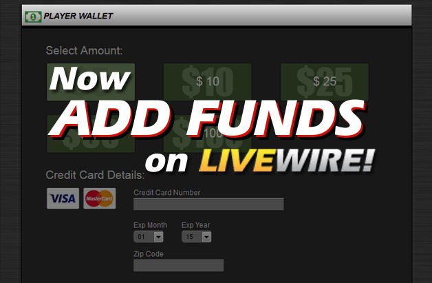 Livewire marquee addfunds