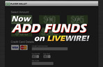Marquee small livewire marquee addfunds
