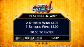 Red Pin Roll-N-Win